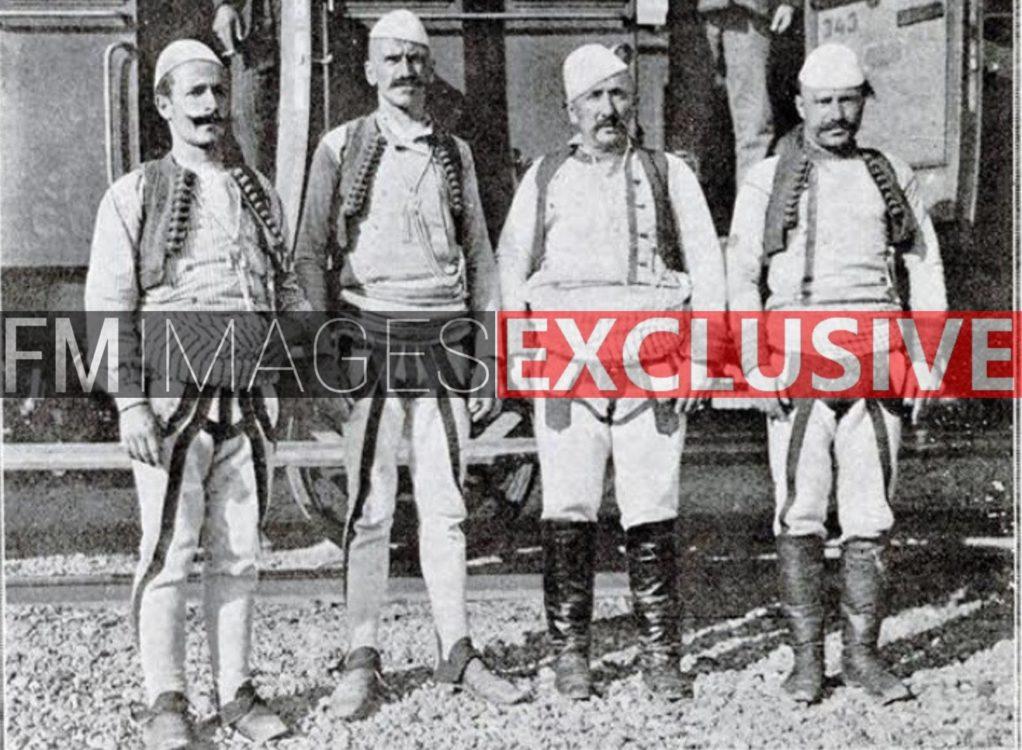 Djemtë e heroit Jakup Ferri, Hasan Ferri me vëllezër në Shkup, 1911